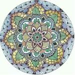 Mandalas para colorear: Sol de verano y Suculenta
