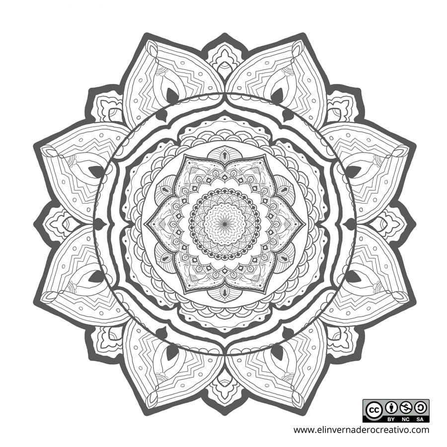 Mandala para colorear: Merak