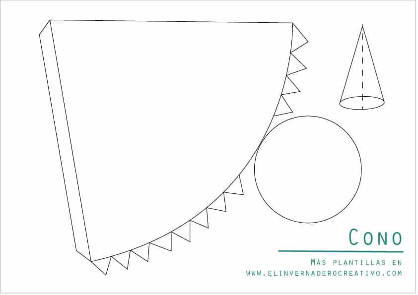 Plantillas De Figuras Geométricas Cono Y Pirámides