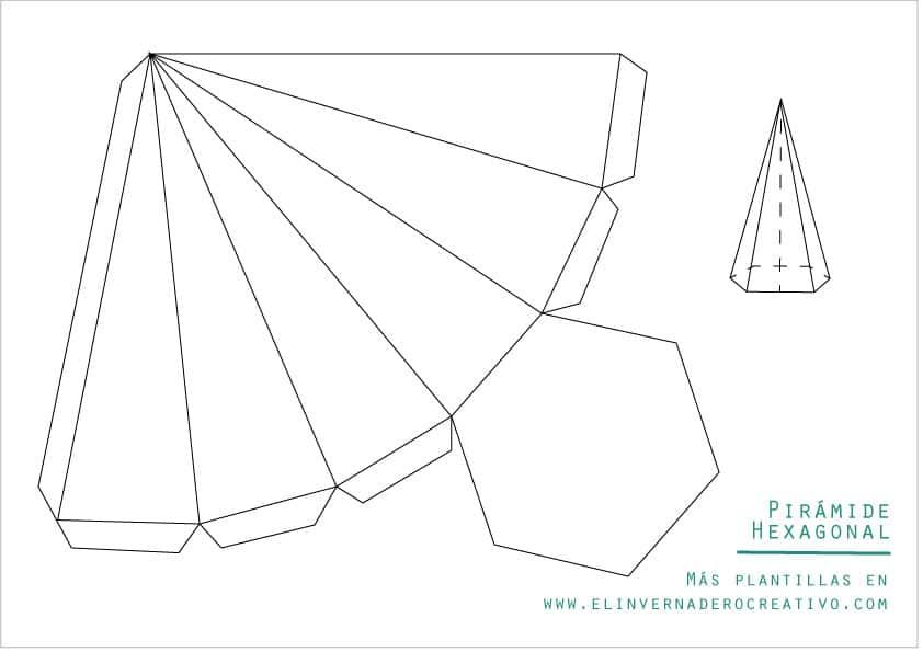 plantilla-pirámide-hexagonal