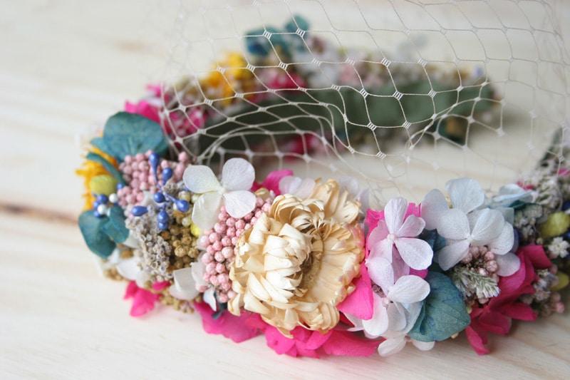 Diy diadema de flores secas y preservadas con Marta Mejuto9