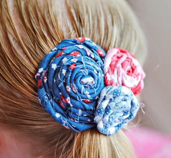 Rolled Flower Hair