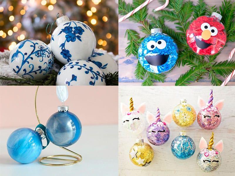 Manualidades Navidenas Para Ninos De Tres Anos.5 Manualidades Navidenas Bolas De Navidad Diferentes