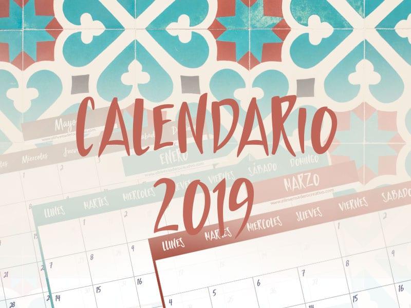 Calendario De Agosto 2019 Decorado.Calendario 2019 Imprimible Gratis De El Invernadero Creativo
