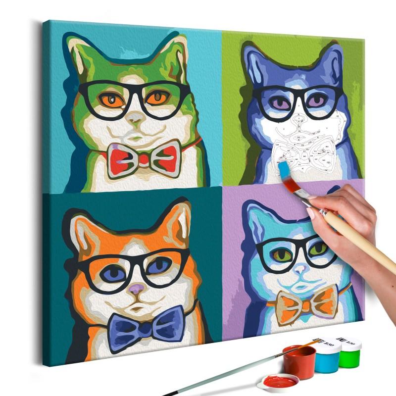 cuadro-para-colorear-gatos-de-gafas