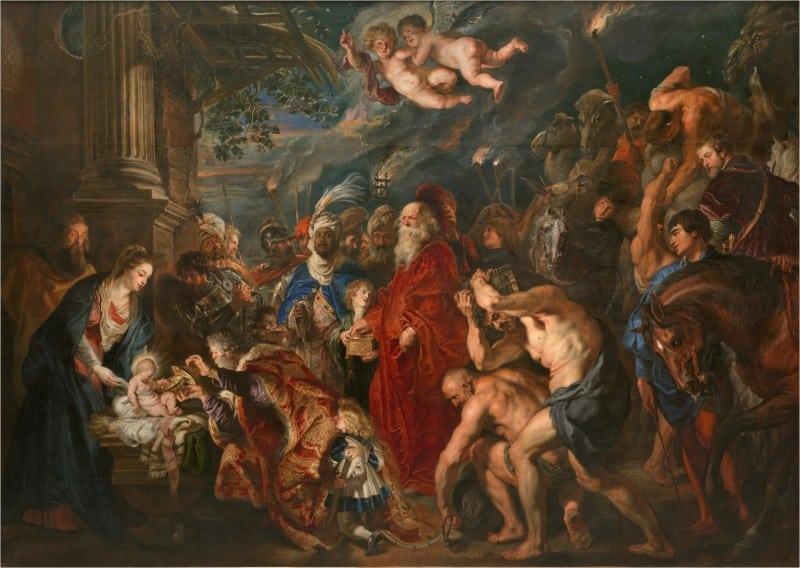 La Adoración de los Magos - rubens