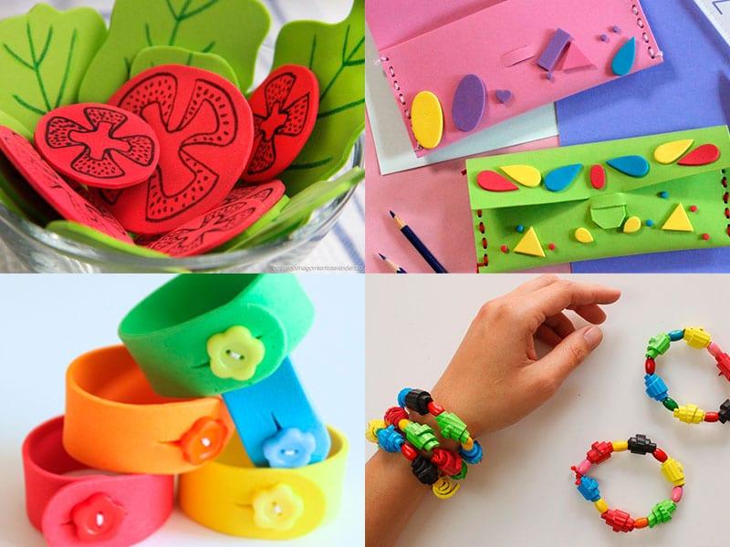 10 Ideas De Manuaildades Infantiles Con Goma Eva