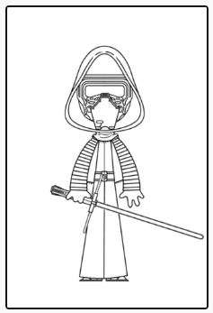 Dibujo para colorear de Kylo Ren. Star Wars