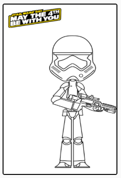 Imprimible stormtrooper. Star Wars.