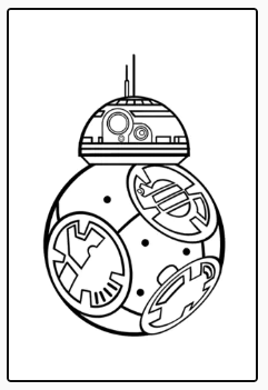 Colorear BB8. Star Wars.